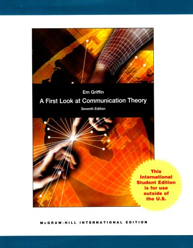 9780071287944: A First Look at Communication Theory. Em Griffin