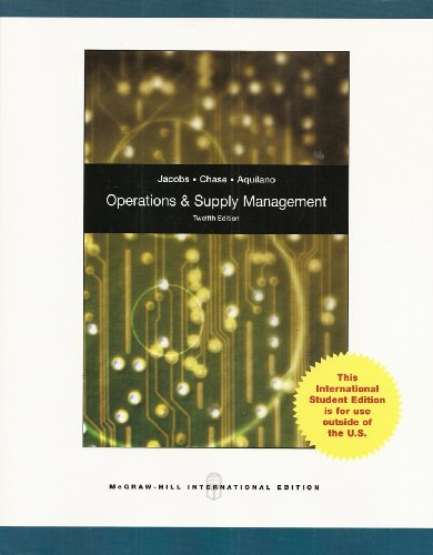 9780071288040: Operations and Supply Management