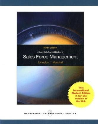 9780071288057: Churchill, Ford, Walker's Sales Force Management