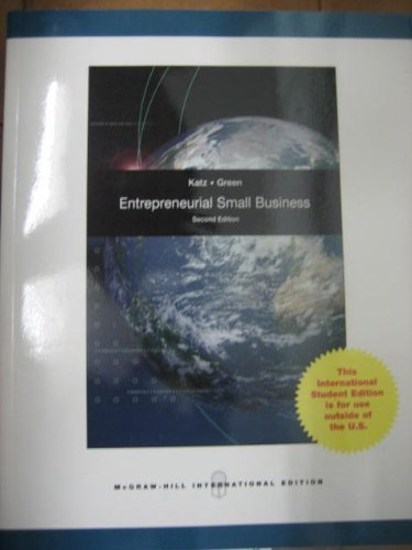 9780071288071: Entrepreneurial Small Business