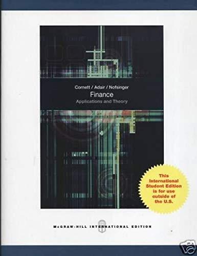 9780071288507: Finance: Applications & Theory. Marcia Millon Cornett, Troy A. Adair, JR, John Nofsinger