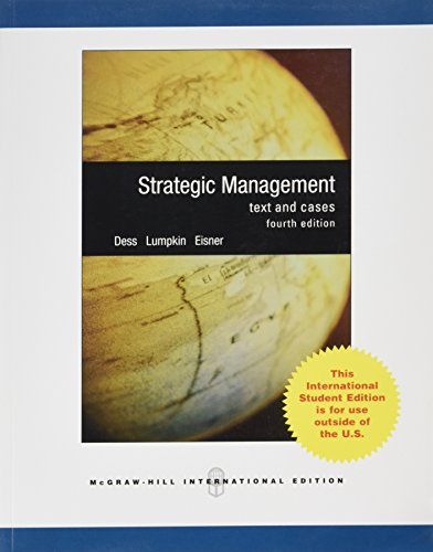 9780071288514: Strategic Management: Text and Cases
