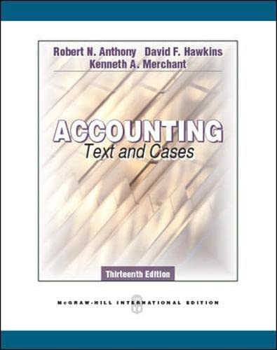 9780071289092: Accounting: Texts and Cases (Int'l Ed)