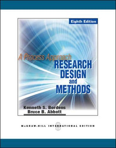 9780071289153: Research Design and Methods: A Process Approach