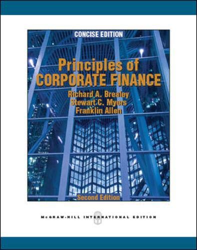 9780071289160: Principles of Corporate Finance, Concise