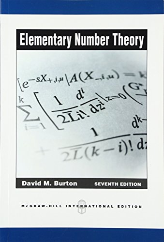 9780071289191: Elementary Number Theory (Int'l Ed) (Asia Higher Education Mathematics and Statistics Higher Mathematics)