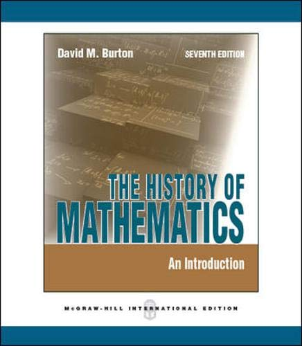 9780071289207: The History of Mathematics: An Introduction (Int'l Ed)