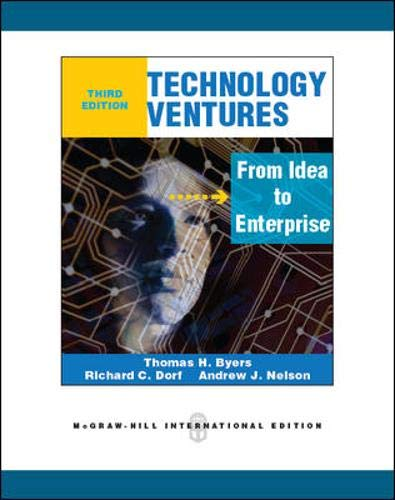 9780071289214: Technology venture: from idea to enterprise (Economia e discipline aziendali)