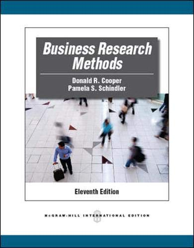 9780071289221: Business Research Methods (McGraw-Hill/Irwin Series Operations and Decision Sciences)