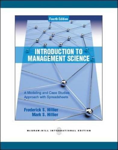 9780071289313: Introduction to Management Science: A Modeling and Case Studies Approach with Spreadsheets