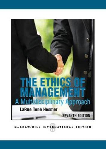 9780071289337: The Ethics of Management