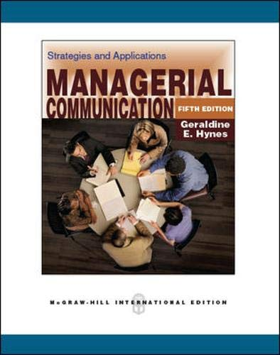9780071289344: Managerial Communication:  Strategies and Applications