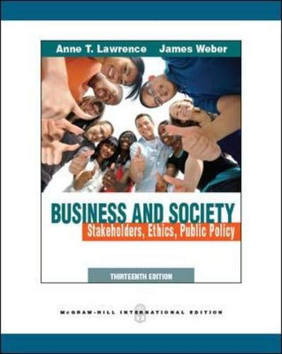 9780071289368: Business and Society: Stakeholders, Ethics, Public Policy
