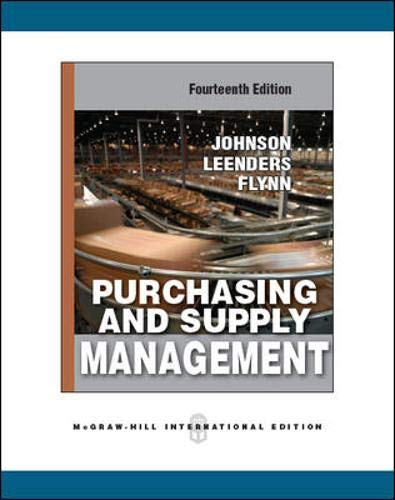 9780071289375: Purchasing Supply Management