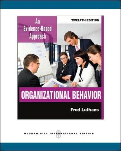 9780071289399: Organizational Behavior (Int'l Ed)