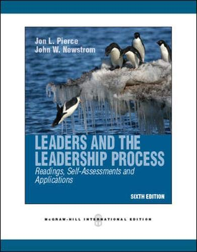 9780071289528: Leaders and the Leadership Process