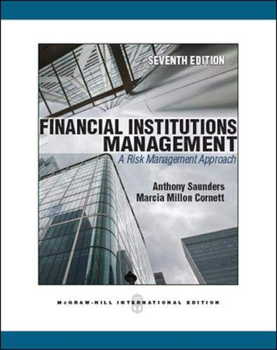 9780071289559: Financial Institutions Management: a Risk Management Approach