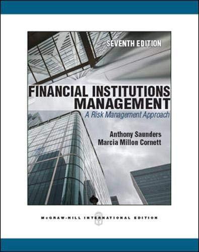 9780071289559: Financial Institutions Management: A Risk Management Approach