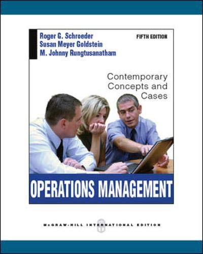 9780071289580: Operations Management:  Contemporary Concepts and Cases
