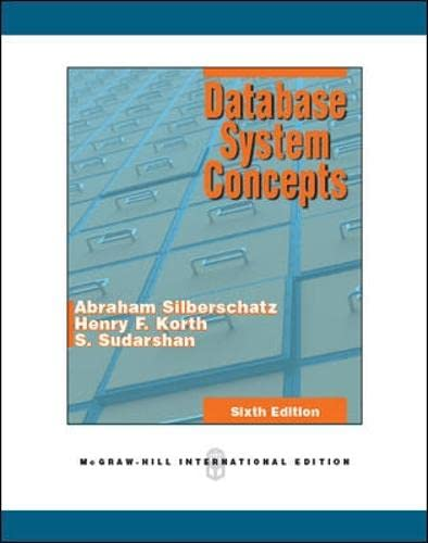 9780071289597: Database System Concepts 6th International edition by Silberschatz, Abraham, Korth, Henry F., Sudarshan, S. (2010) Paperback