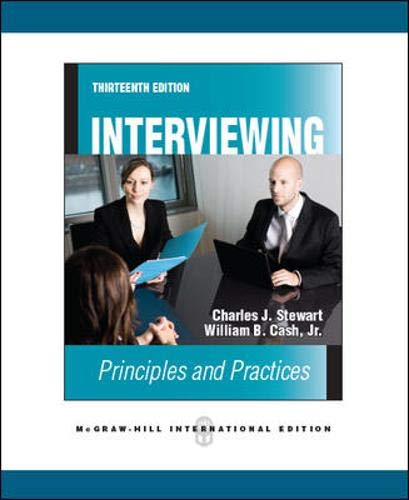 9780071289610: Interviewing: Principles and Practices