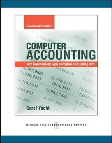 9780071289634: Computer Accounting with Peachtree by Sage Complete Accounting 2010