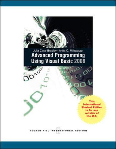 9780071310079: Advanced Programming Using Visual Basic 2008