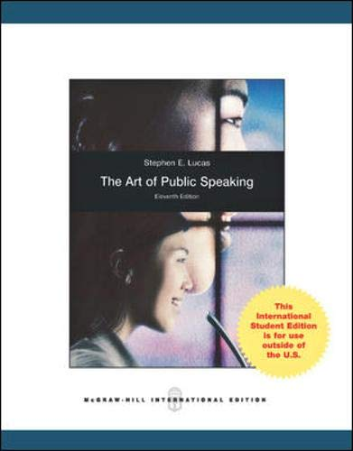 9780071310413: Art of Public Speaking, International Edition