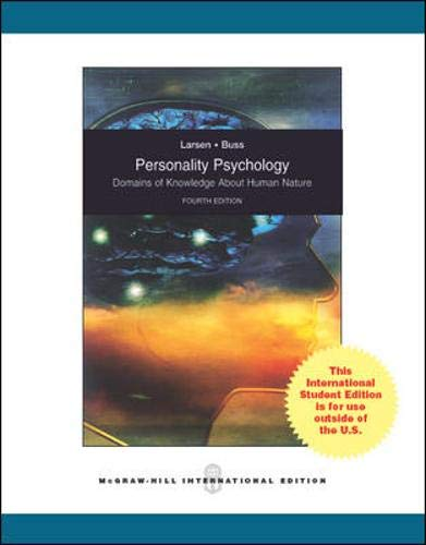 9780071310543: Personality Psychology: Domains of Knowledge About Human Nature