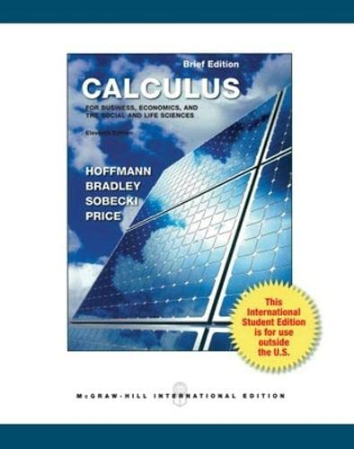 9780071310710: Calculus for Business, Economics, and the Social and Life Sciences, Brief Version (Int'l Ed) (Asia Higher Education Mathematics and Statistics Calculus)