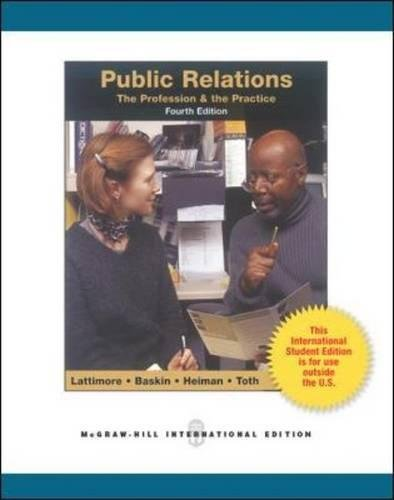 9780071310727: Public Relations:  The Profession and the Practice (Int'l Ed)