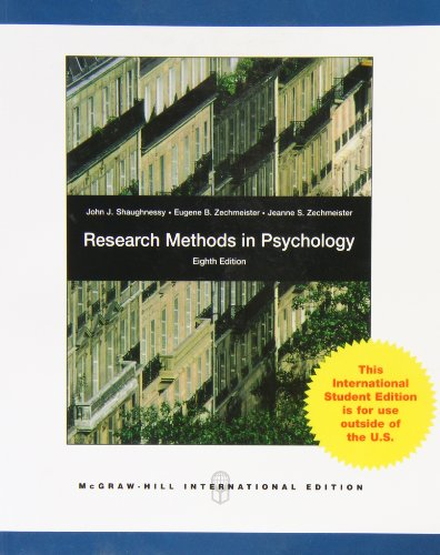 9780071310970: Research Methods in Psychology