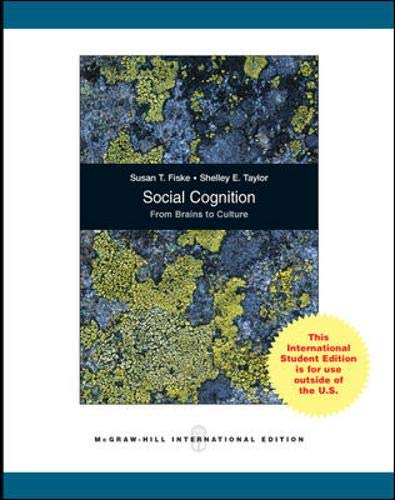 9780071311496: Social Cognition, from Brains to Culture