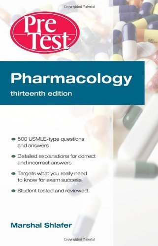 9780071313612: Pharmacology: PreTest Self-Assessment and Review, Thirteenth Edition (PreTest Basic Science)