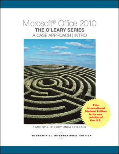 9780071313902: Microsoft Office 2010: a Case Approach, Introductory
