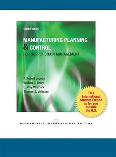 9780071313933: Manufacturing Planning and Control for Supply Chain Management