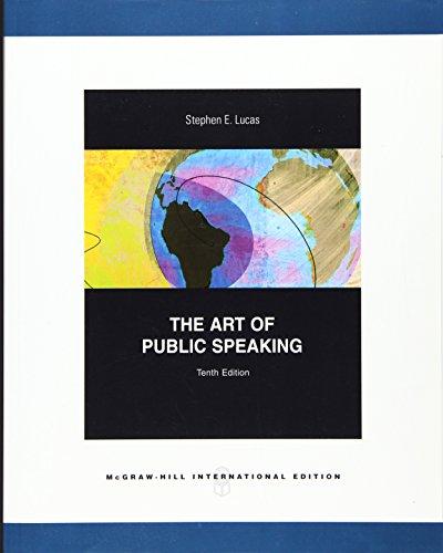 9780071313957: ART OF PUBLIC SPEAKING (THE) 1