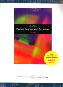 9780071313964: Practical Business Math Procedures: Student DVD, with SJ Insert