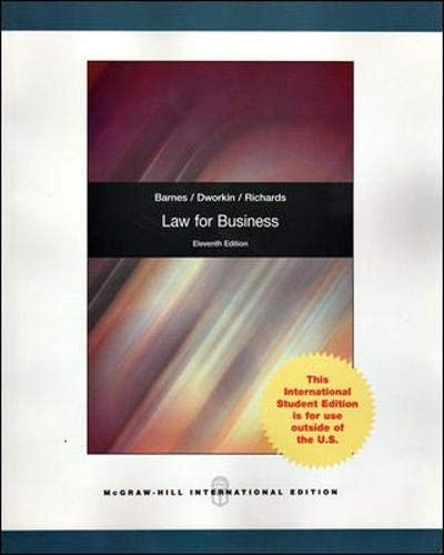 9780071314572: Law for Business