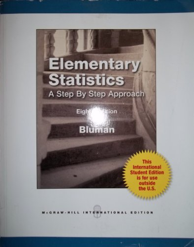 9780071314657: Elementary Statistics - A Step By Step Approach 8th Edition (International Student Edition)