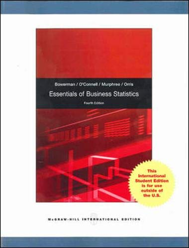 9780071314718: Essentials of Business Statistics