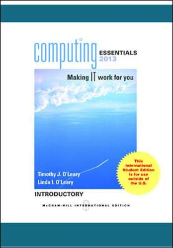9780071314725: Computing Essentials 2013 Introductory