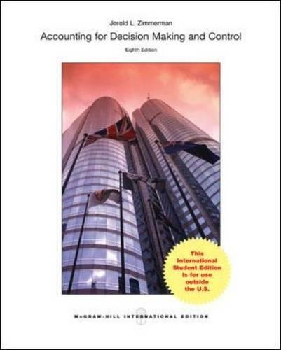 9780071314756: Accounting for Decision Making and Control