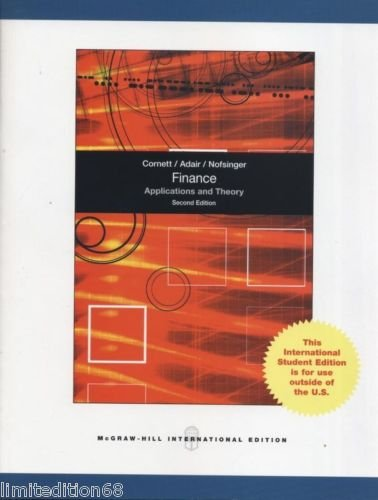 9780071314862: Finance: Applications and Theory