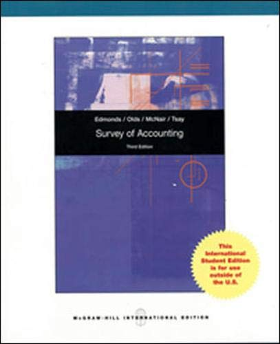 9780071315050: Survey of Accounting