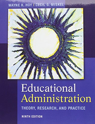 9780071315067: Educational Administration: Theory, Research, and Practice