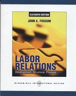9780071315173: Labor Relations