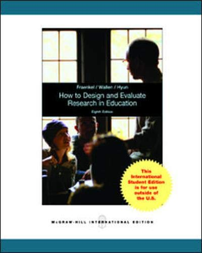 9780071315180: How to Design and Evaluate Research in Education