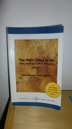 9780071315197: The Right Thing to do: Basic Readings in Moral Philosophy