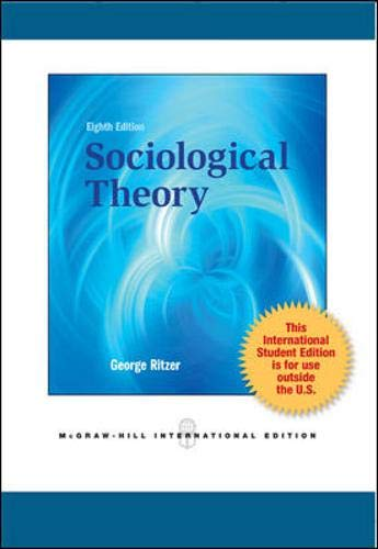9780071315371: Sociological Theory